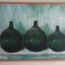Arte: GARRAFONES - JOSÉ ANSOAIN - OLEO SOBRE LIENZO - 116 X 89. Lote 196610661
