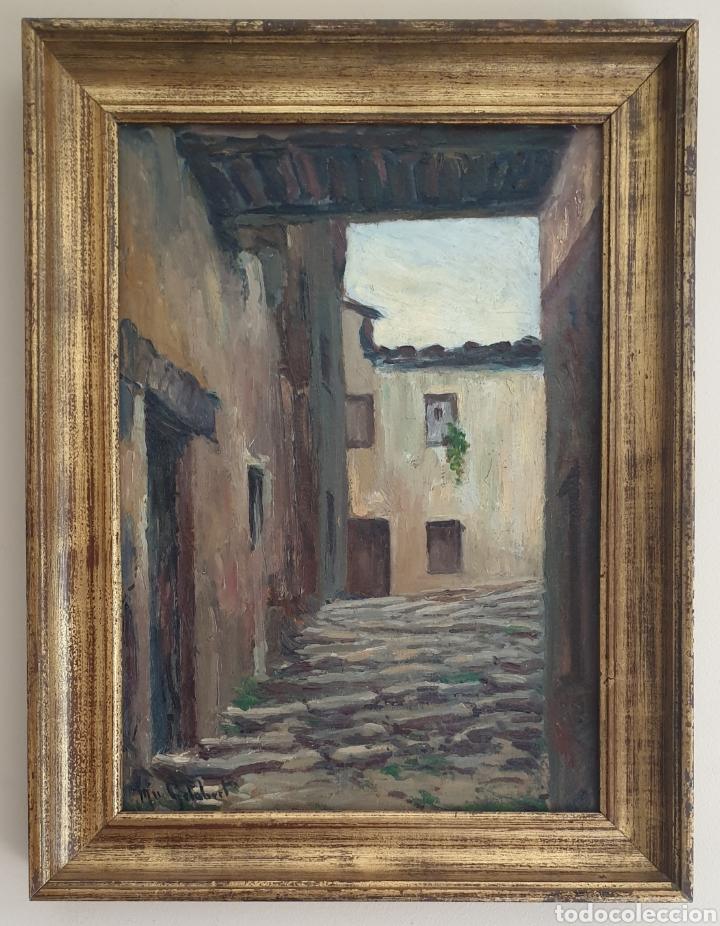MOSSÈN JOSEP GELABERT I RINCÓN (EL MORELL, 1859 -LLAGOSTERA,1936) - RINCON DE PUEBLO.FIRMADO. (Arte - Pintura - Pintura al Óleo Antigua sin fecha definida)