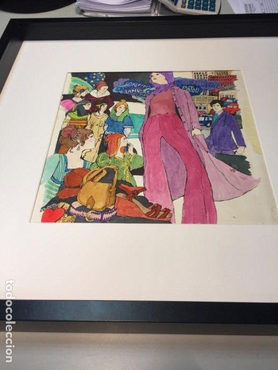ARJÉ, ILUSTRACIÓN ORIGINAL, CATALOGADA Y SELLADA, APROX. 50X50 CMS. (Arte - Pintura - Pintura al Óleo Contemporánea )