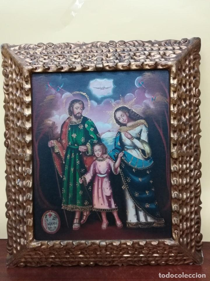 SAGRADA FAMILIA DE MEDIADOS DEL SIGLO XIX (Arte - Pintura - Pintura al Óleo Contemporánea )
