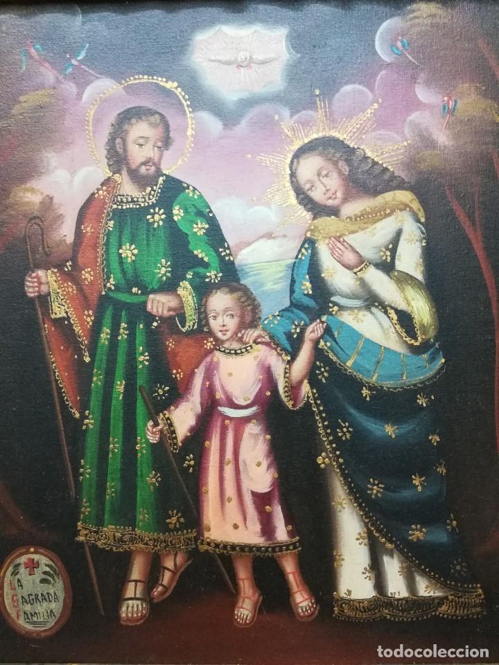 Arte: Sagrada familia de mediados del siglo XIX - Foto 2 - 196654883