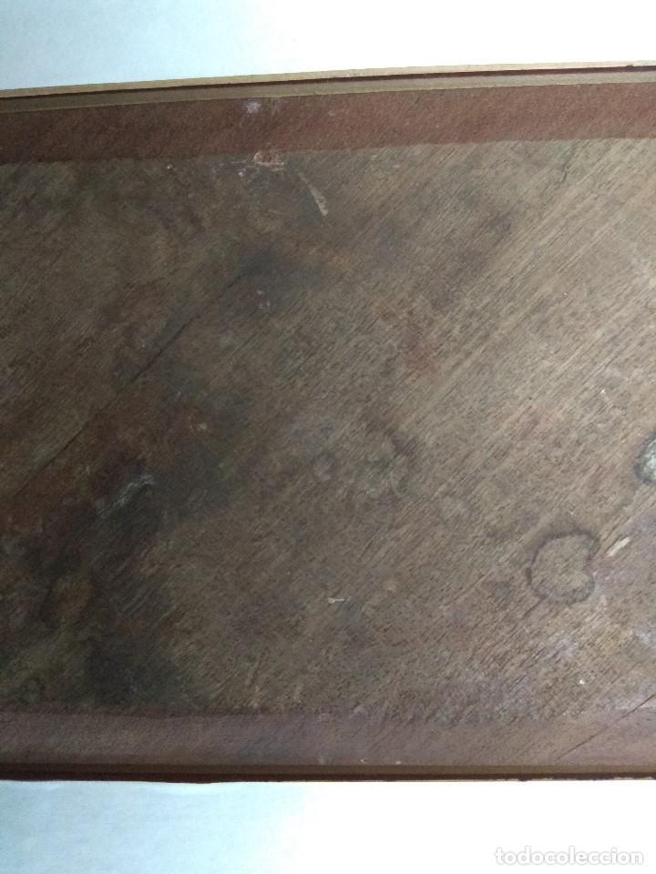 Arte: CUADRO OLEO SOBRE TABLA MUY ANTIGUO MANOLA SIGLO XIX FIRMADO J.A.CON IMPORTANTE MARCO DORADO - Foto 22 - 103621923