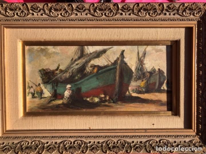 OLEO SOBRE TABLA, MARINA, FIRMA TEODORO DELGADO (Arte - Pintura - Pintura al Óleo Contemporánea )