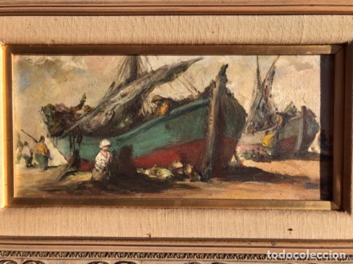 Arte: OLEO SOBRE TABLA, MARINA, FIRMA TEODORO DELGADO - Foto 3 - 196733373