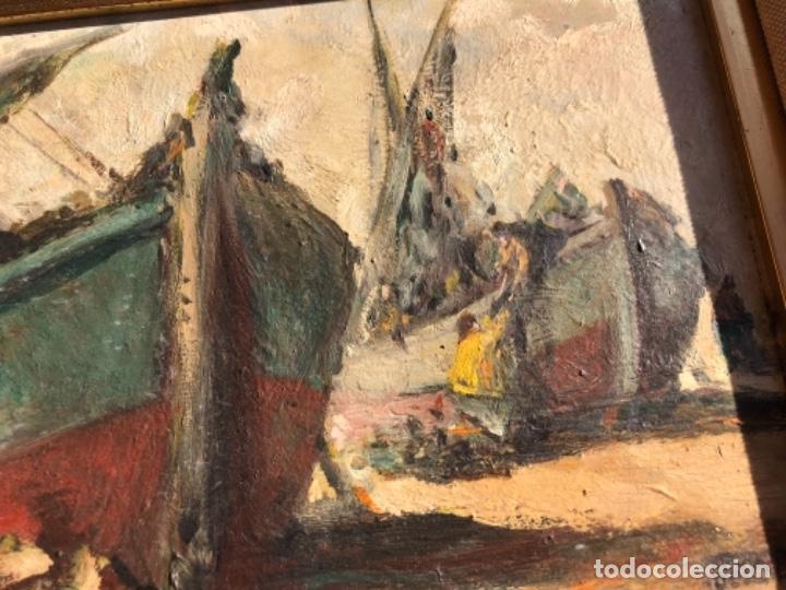 Arte: OLEO SOBRE TABLA, MARINA, FIRMA TEODORO DELGADO - Foto 6 - 196733373