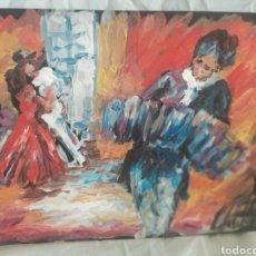 Arte: UNA NOCHE DE TANGO (ORIGINAL). Lote 196759841