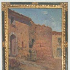 Arte: JAUME PIZÀ ROIG (BUENOS AIRES, 1892 - BARCELONA, 1968 ) - RINCÓN DE PUEBLO.OLEO/TELA.FIRMADO.. Lote 196536620