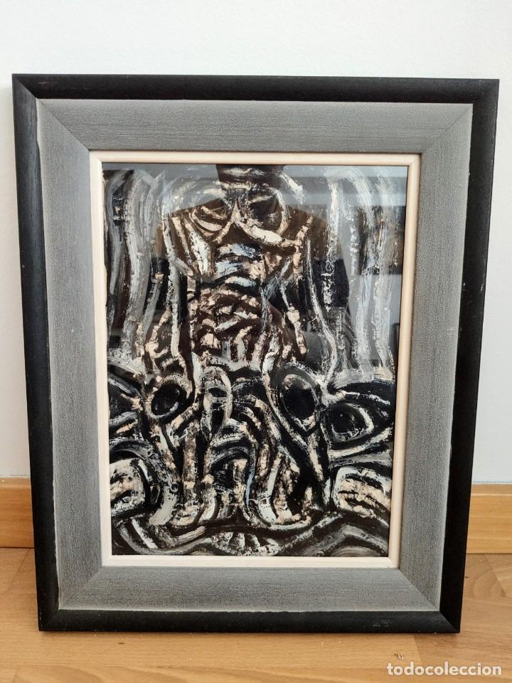 JOHN ULBRICHT (1926-2006). ÓLEO ABSTRACTO 2 ( MALLORCA - PINTURA - CUADRO - BALEARES ) (Arte - Pintura - Pintura al Óleo Contemporánea )