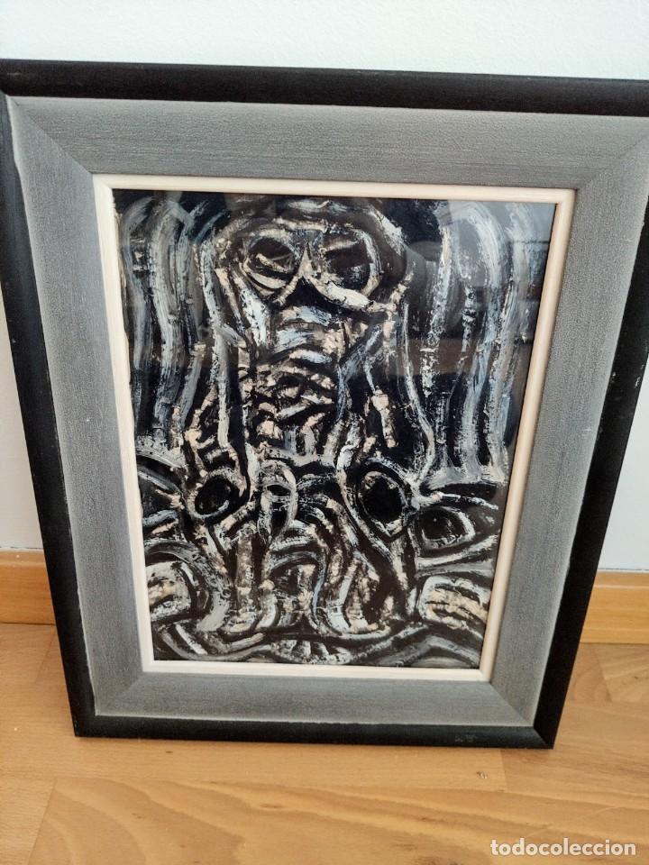 Arte: JOHN ULBRICHT (1926-2006). ÓLEO ABSTRACTO 2 ( MALLORCA - PINTURA - CUADRO - BALEARES ) - Foto 2 - 196955608