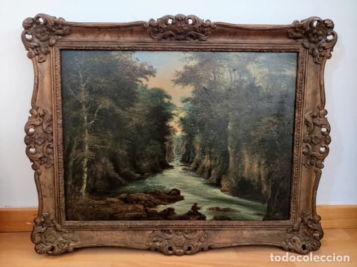 PINTURA INGLESA ROMÁNTICA S.XIX ÓLEO ( LONDON - ARTE - CUADRO - PAISAJE ) (Arte - Pintura - Pintura al Óleo Moderna siglo XIX)
