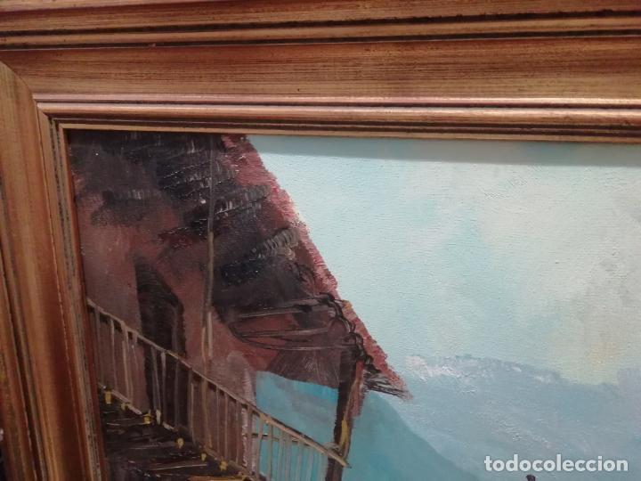Arte: IMPRESIONANTE ÓLEO DE GRANDES DIMENSIONES DE JOSEP MENESES TAPIAS TITULADO ESCENA RURAL. 130 X 62 CM - Foto 2 - 197060137