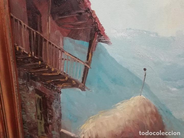 Arte: IMPRESIONANTE ÓLEO DE GRANDES DIMENSIONES DE JOSEP MENESES TAPIAS TITULADO ESCENA RURAL. 130 X 62 CM - Foto 3 - 197060137