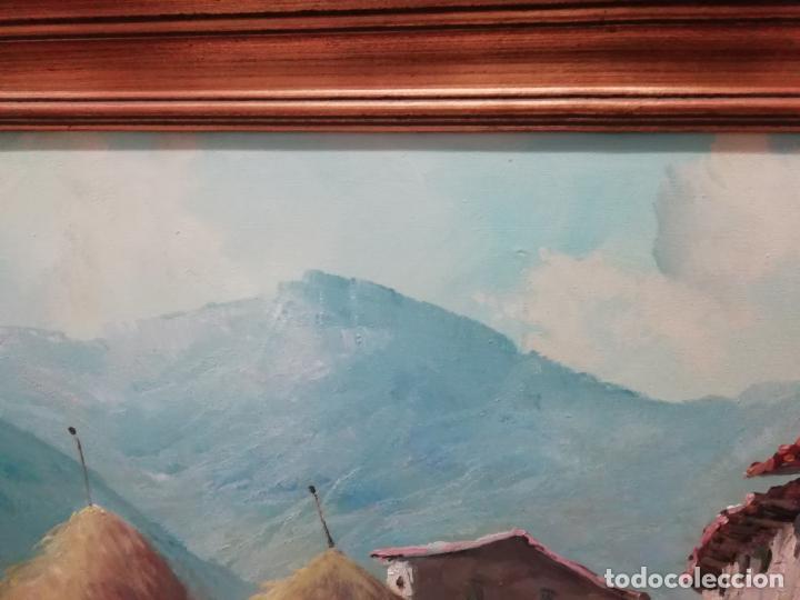 Arte: IMPRESIONANTE ÓLEO DE GRANDES DIMENSIONES DE JOSEP MENESES TAPIAS TITULADO ESCENA RURAL. 130 X 62 CM - Foto 5 - 197060137