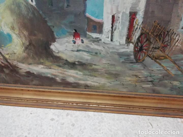 Arte: IMPRESIONANTE ÓLEO DE GRANDES DIMENSIONES DE JOSEP MENESES TAPIAS TITULADO ESCENA RURAL. 130 X 62 CM - Foto 7 - 197060137