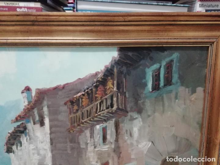 Arte: IMPRESIONANTE ÓLEO DE GRANDES DIMENSIONES DE JOSEP MENESES TAPIAS TITULADO ESCENA RURAL. 130 X 62 CM - Foto 8 - 197060137