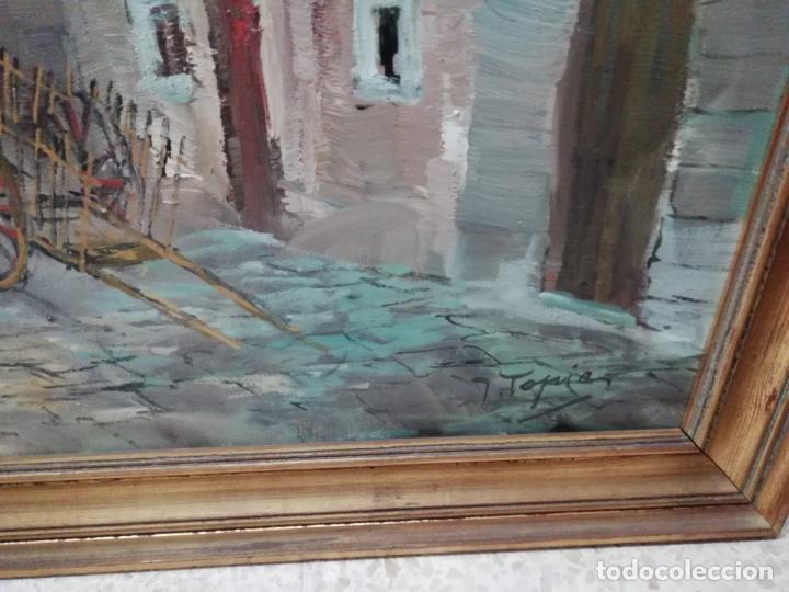 Arte: IMPRESIONANTE ÓLEO DE GRANDES DIMENSIONES DE JOSEP MENESES TAPIAS TITULADO ESCENA RURAL. 130 X 62 CM - Foto 10 - 197060137
