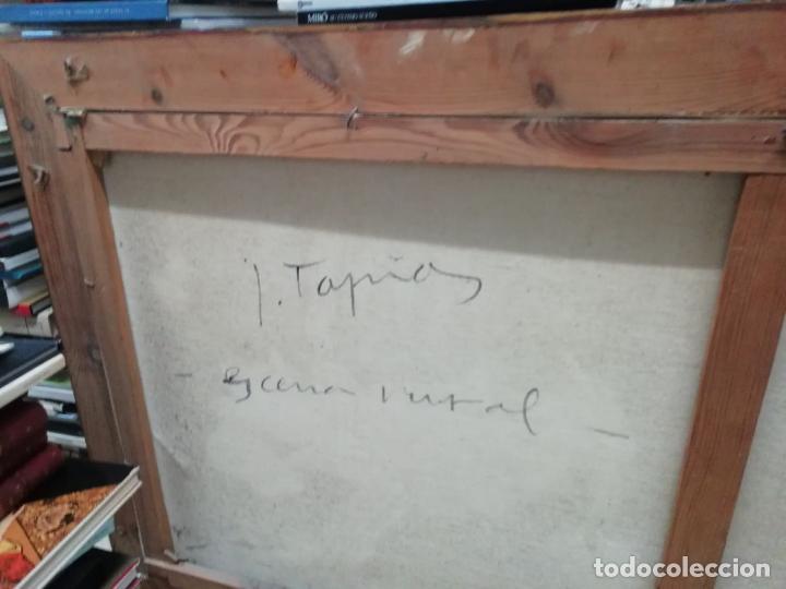 Arte: IMPRESIONANTE ÓLEO DE GRANDES DIMENSIONES DE JOSEP MENESES TAPIAS TITULADO ESCENA RURAL. 130 X 62 CM - Foto 12 - 197060137