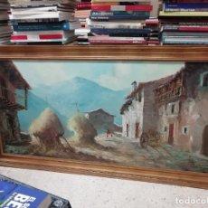 Arte: IMPRESIONANTE ÓLEO DE GRANDES DIMENSIONES DE JOSEP MENESES TAPIAS TITULADO ESCENA RURAL. 130 X 62 CM. Lote 197060137