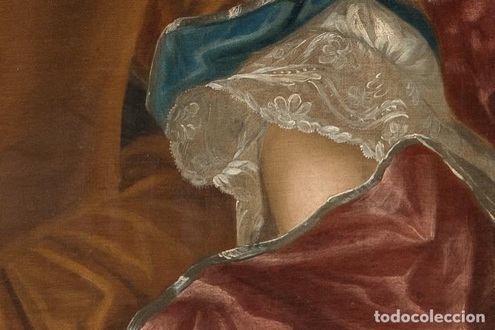 Arte: Óleo lienzo Retrato de dama Escuela francesa siglo XVIII - Foto 2 - 197083196