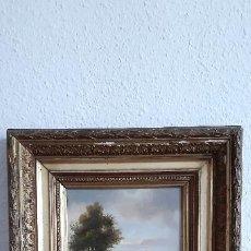 Arte: ÓLEO SOBRE TABLA PINTORA ROMÁNTICA FRÉDERIQUE EMILIE AUGUSTE O'CONNELL (POTSDAM 1823-PARIS 1885). Lote 197199881