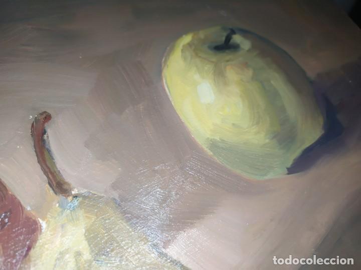 Arte: BODEGÓN ÓLEO SOBRE TABLA FIRMADO RAFAEL IBARRA GALLACH 2002 FRUTAS PERA MANZANA - Foto 10 - 197257790