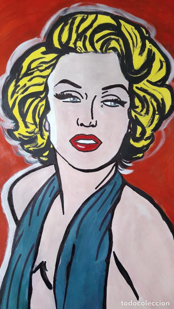 Arte: MARILYM. ACRÍLICO SOBRE CARTULINA 65 X 50 CM - Foto 2 - 197286701
