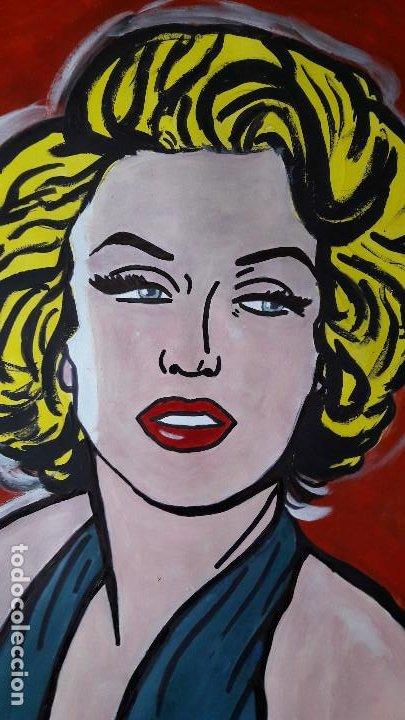Arte: MARILYM. ACRÍLICO SOBRE CARTULINA 65 X 50 CM - Foto 4 - 197286701