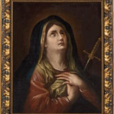 Arte: ÓLEO LIENZO ADHERIDO A TABLA VIRGEN DOLOROSA ESCUELA VALENCIA SIGLO XVII. Lote 197341351