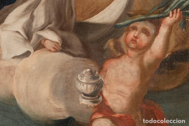 Arte: Óleo lienzo Inmaculada Escuela valenciana siglo XVIII - Foto 2 - 197343010