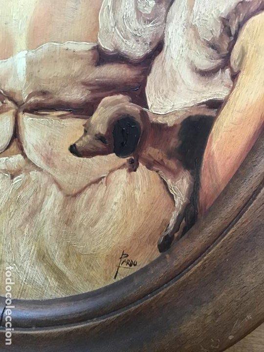 Arte: 2 ANTIGUAS PINTURAS . RETRATOS DE CABALLERO Y DAMA , OLEO SIGLO XIX FIRMADOS - Foto 10 - 197356645