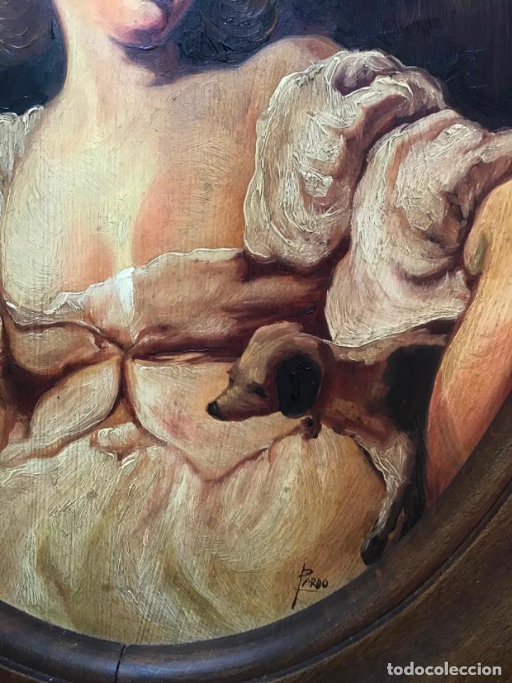 Arte: 2 ANTIGUAS PINTURAS . RETRATOS DE CABALLERO Y DAMA , OLEO SIGLO XIX FIRMADOS - Foto 11 - 197356645