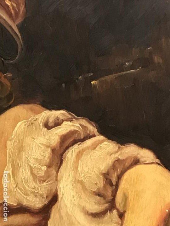 Arte: 2 ANTIGUAS PINTURAS . RETRATOS DE CABALLERO Y DAMA , OLEO SIGLO XIX FIRMADOS - Foto 16 - 197356645
