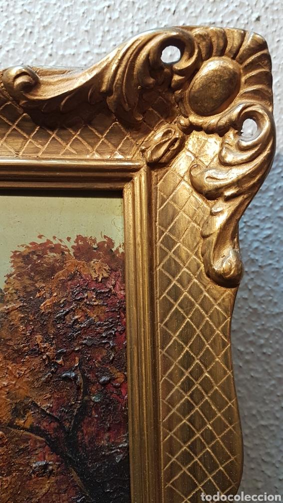 Arte: OLEO SOBRE TABLEX DE PAISAJE CON RIO FIRMADO JULIO ANTONIO. MEDIDAS 39 X 33 CM. CON MARCO. - Foto 7 - 197409022