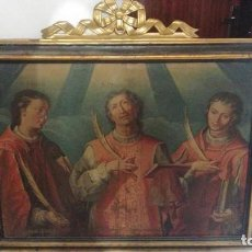 Arte: PRECIOSO OLEO SOBRE LIENZO ESCUELA VALENCIANA SIGLO XVII? MIREN FOTOS . Lote 197452312