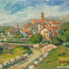 Arte: PINTURA AL OLEO DE SOLIVELLA, SOBRE MADERA, FRANCESC CONSTANTÍ GAVALDÀ, REUS 1923. FINALES S XX. Lote 197481380