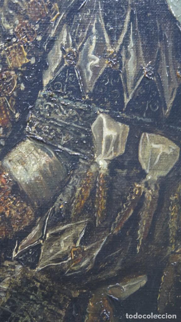 Arte: MAGNIFICO RETRATO ECUESTRE DE MARGARITA DE AUSTRIA. EMILIO SALA FRANCES (1850 - 1910). COP. VELAZQUE - Foto 4 - 197582137