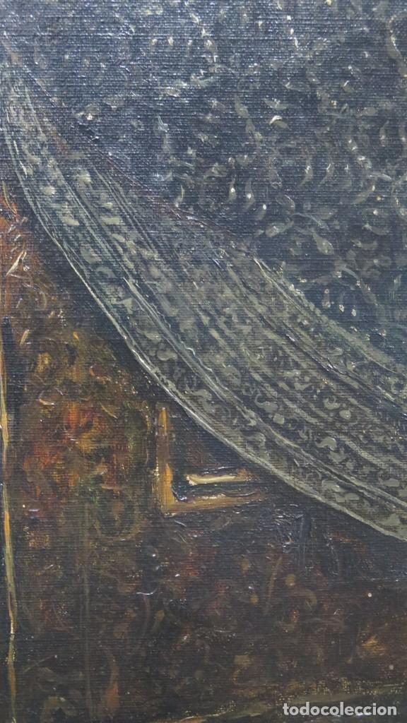 Arte: MAGNIFICO RETRATO ECUESTRE DE MARGARITA DE AUSTRIA. EMILIO SALA FRANCES (1850 - 1910). COP. VELAZQUE - Foto 7 - 197582137