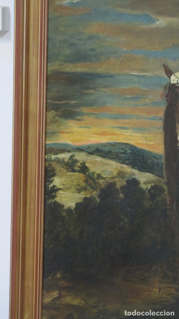 Arte: MAGNIFICO RETRATO ECUESTRE DE MARGARITA DE AUSTRIA. EMILIO SALA FRANCES (1850 - 1910). COP. VELAZQUE - Foto 12 - 197582137
