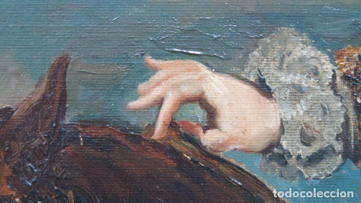 Arte: MAGNIFICO RETRATO ECUESTRE DE MARGARITA DE AUSTRIA. EMILIO SALA FRANCES (1850 - 1910). COP. VELAZQUE - Foto 16 - 197582137