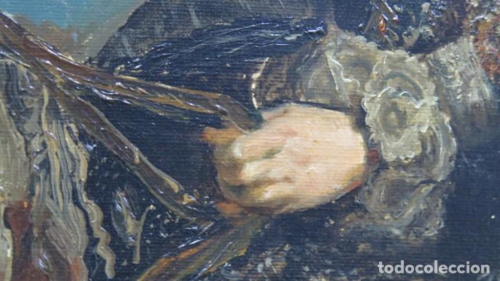 Arte: MAGNIFICO RETRATO ECUESTRE DE MARGARITA DE AUSTRIA. EMILIO SALA FRANCES (1850 - 1910). COP. VELAZQUE - Foto 24 - 197582137