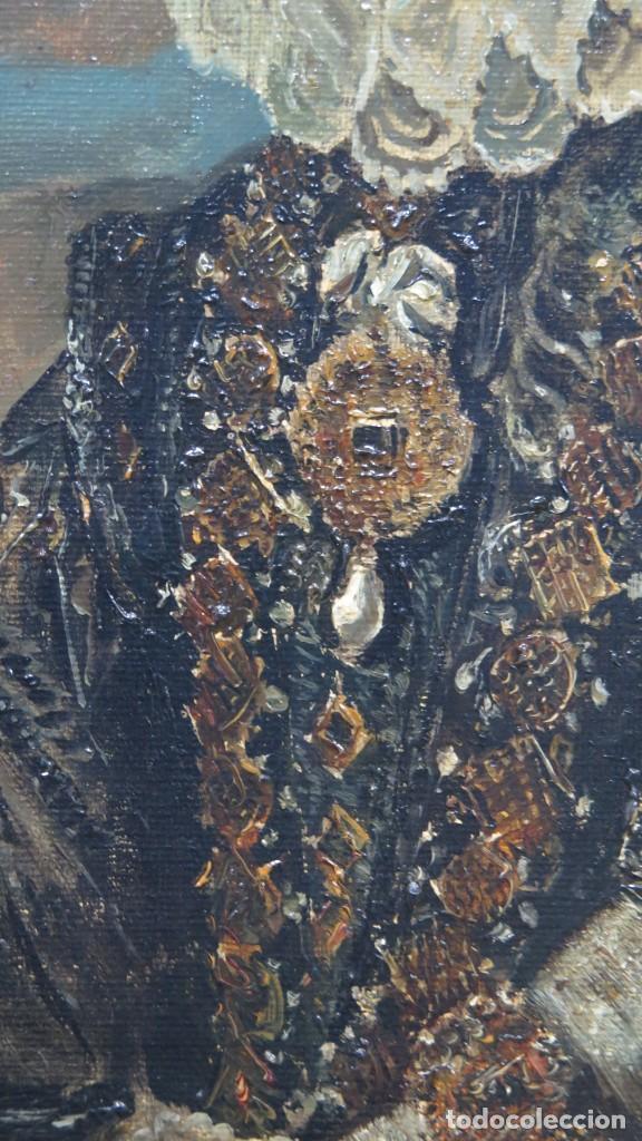 Arte: MAGNIFICO RETRATO ECUESTRE DE MARGARITA DE AUSTRIA. EMILIO SALA FRANCES (1850 - 1910). COP. VELAZQUE - Foto 25 - 197582137