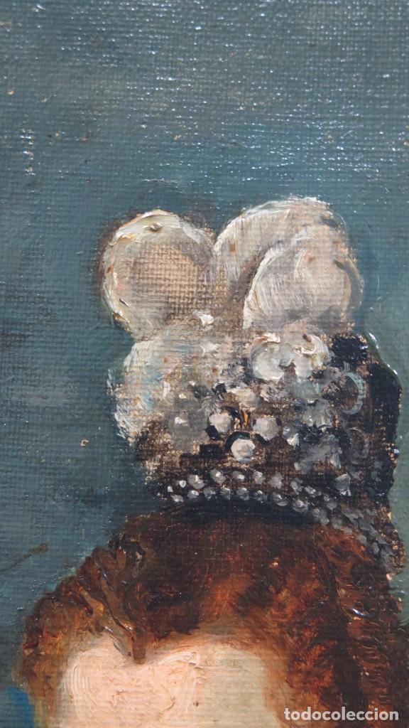Arte: MAGNIFICO RETRATO ECUESTRE DE MARGARITA DE AUSTRIA. EMILIO SALA FRANCES (1850 - 1910). COP. VELAZQUE - Foto 27 - 197582137