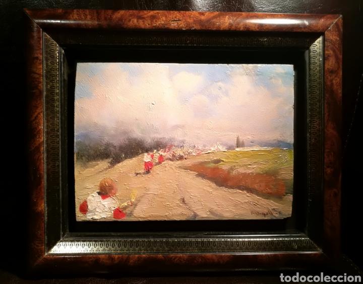 LA PROCESIÓN POR RICARD URGELL (1874-1924) (Arte - Pintura - Pintura al Óleo Moderna sin fecha definida)