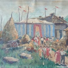 Arte: FRANCISCO GUINART CANDELICH (SANT CELONI, 1888-1974) - SAN FELIU DE PALLEROLS.OLEO/TELAFIRMADO.1935.. Lote 251348525