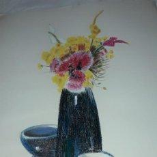 Arte: BELLA PINTURA BODEGÓN FLORES A PASTEL AÑO 1999. Lote 197746136