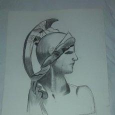 Art: BELLA PINTURA DIOSA ATENEA A PASTEL AÑO 1998. Lote 197748948