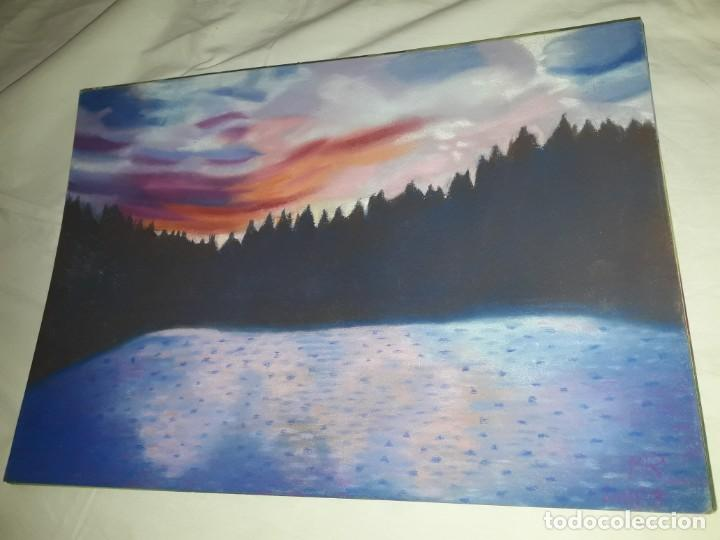 Arte: Bella pintura paisaje a pastel año 2003 - Foto 2 - 197749907