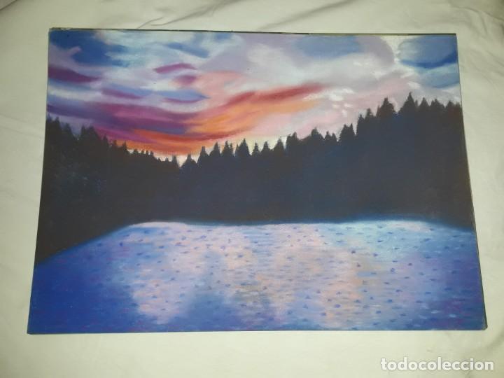 Arte: Bella pintura paisaje a pastel año 2003 - Foto 4 - 197749907