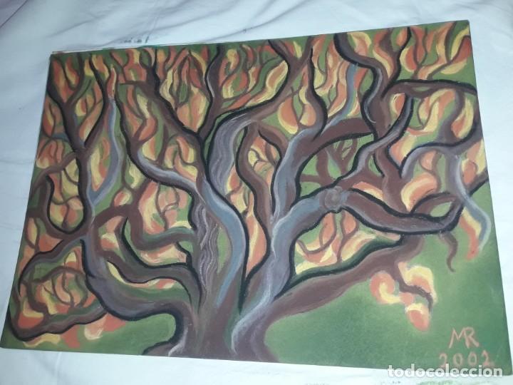 Arte: Bella pintura El arbol del bosque a pastel 2002 - Foto 2 - 197755250