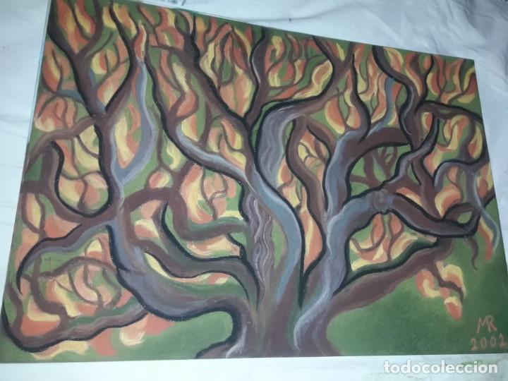 Arte: Bella pintura El arbol del bosque a pastel 2002 - Foto 3 - 197755250